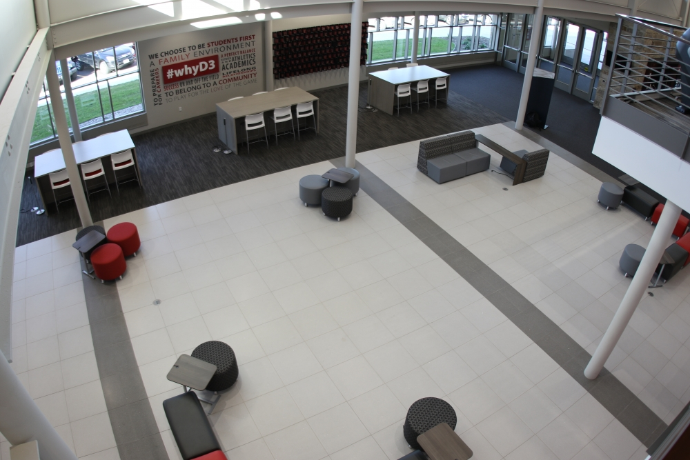 large, open Gymnasium atrium